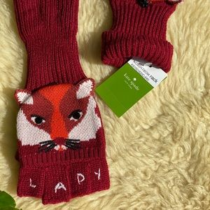 Kate Spade🍁🍂Foxy POP Top mittens NWT